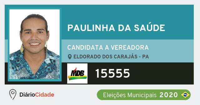Paulinha da Saúde 15555 (MDB) Candidato a Vereador | Eleições 2020
